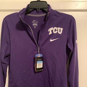 Women's TCU Nike zip up